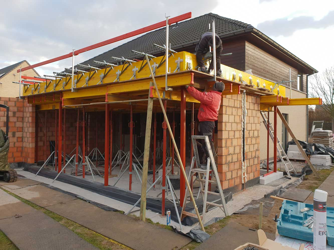 Aanbouw, uitbouw, verbouwing Aannemer verbouwingen en renovaties - Entrepreneur transformations et rénovations